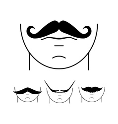 Big set of hipster mustache vector image vector image