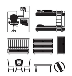 Children furniture vector