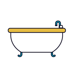 Color sections silhouette of bathtub icon vector