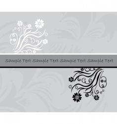 floral invitation vector image vector image