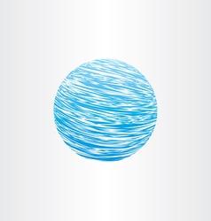 grunge blue globe background vector image