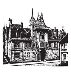 Jacques coeurs house in bourges romanesque vector