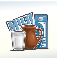 Logo of milk vector