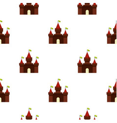 Medieval castle pattern flat vector