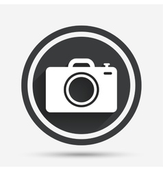 Photo camera sign icon Photo symbol vector image vector image