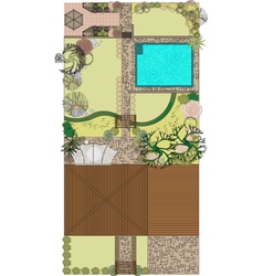 Project landscaping vector