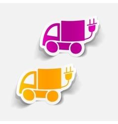 realistic design element eco car vector image