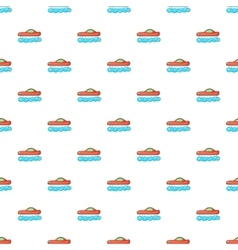 Red futuristic car pattern cartoon style vector