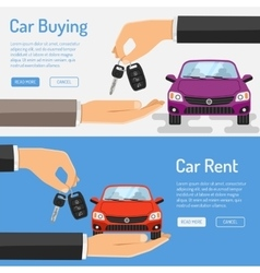 Rent amd buying car banner vector