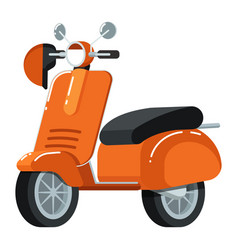 Retro moped icon in flat design vector