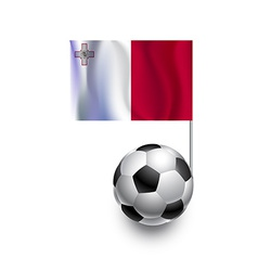 Soccer balls or footballs with flag of malta vector