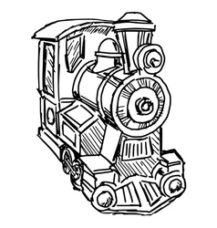 steam engine train vector image