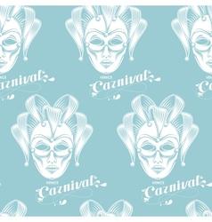 venetian carnival mask seamless pattern vector image