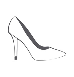 Womans shoe vector image