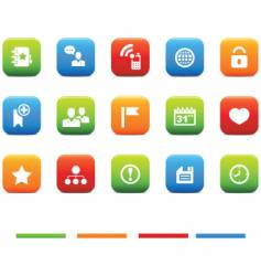 social icons 4 color set vector image