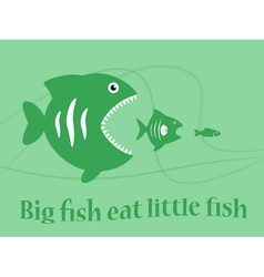 big fish eat little fish vector image