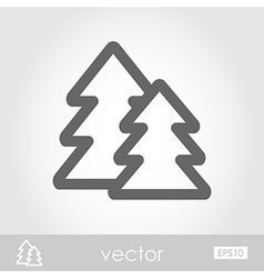 Forest icon vector