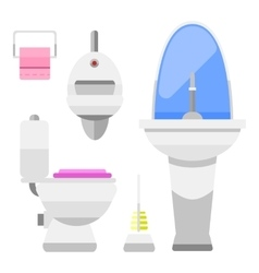 Bathroom icons symbols vector