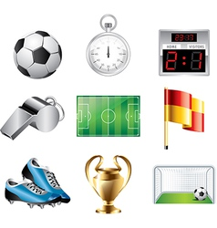 Icons football vector