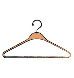 colored blurred silhouette of clothes hanger icon vector image