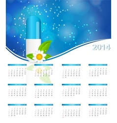 2014 new year calendar in medical style vector image