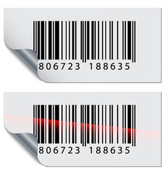 Barcode stickers vector