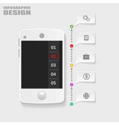 Infographics mobile phone data paper style vector