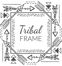 Abstract tribal frame vector