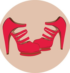 High heel icon vector