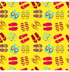 Seamless pattern of flip flops in vintage style vector