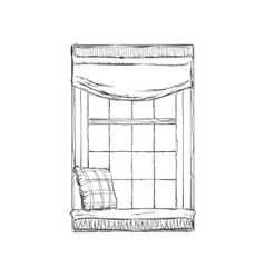 Window hand drawn sketch vector