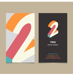 Business card number 2 vector