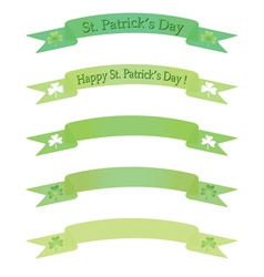 Banners for st pastricks day vector