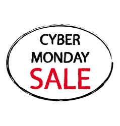America cyber monday sale sign stamp style vector
