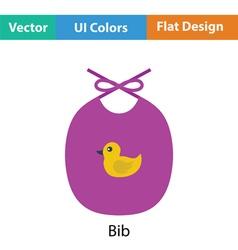 Bib icon vector image vector image