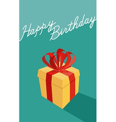 birthday cartoon gift box Happy birthday card vector image vector image