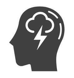brainstorm solid icon business and idea vector image