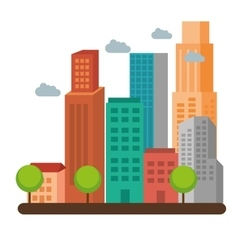 buildings concept design vector image vector image