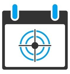 Bullseye calendar day toolbar icon vector