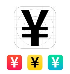 Chinese yuan icon vector