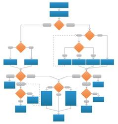 Clean corporate flowchart vector