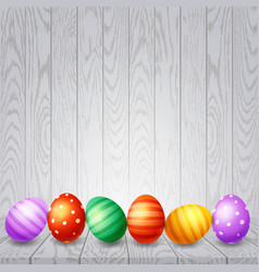Colorful easter eggs background vector
