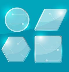 Glass Technology Border Transparent Set vector image vector image