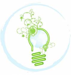 green bulb vector image