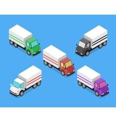 Isometric delivery van car icon vector