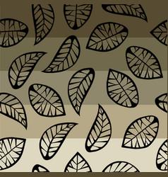 Leaves on degrade background vector