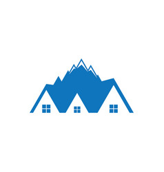 Mountain home logo image vector
