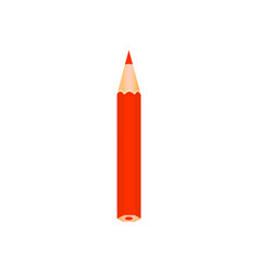 red color wooden pencil vector image vector image
