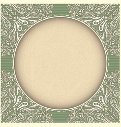 Retro green frame real paper effect vector