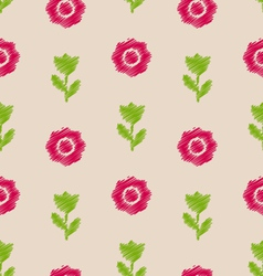 Seamless Floral Texture Vintage Pattern for vector image vector image